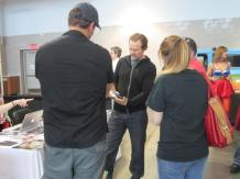 Michael Biehn talks with fans