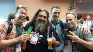 "(L to R) Jon Etheridge, Paul ""Yosemitebear"" Vasquez. Brent Triplett, Tony Schnur"
