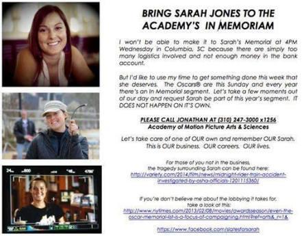 Oscars for Sarah